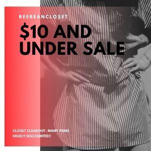 $10&UNDER SALE